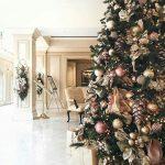 arbol de navidad rosa gold cobre y dorado