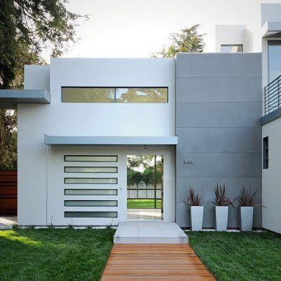 Color blanco para fachadas modernas