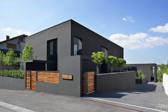 Color gris para fachadas modernas