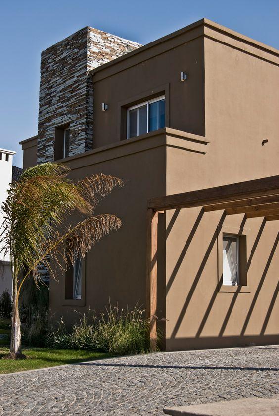 Colores marrones para fachadadas modernas