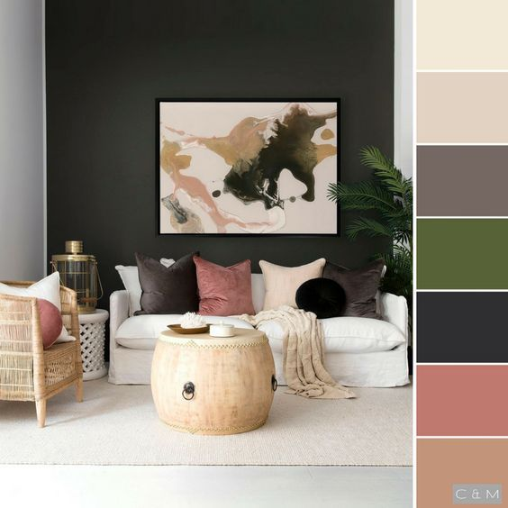 Colores para decorar salas 2019 tendencias en color para - Combinacion de colores para pintar interiores ...