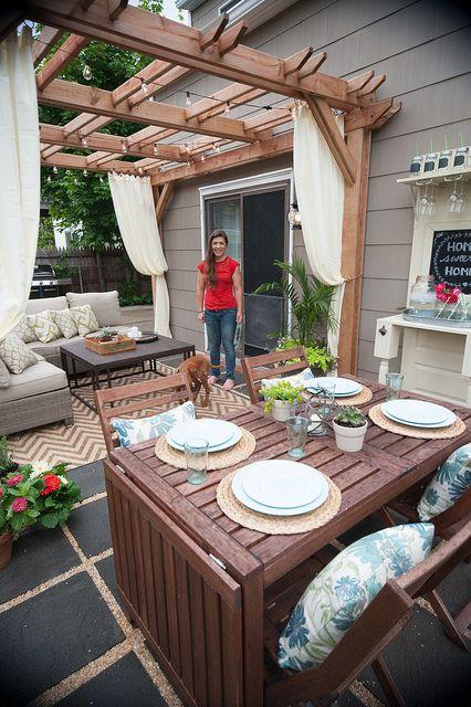 Comedores para jardines modernos