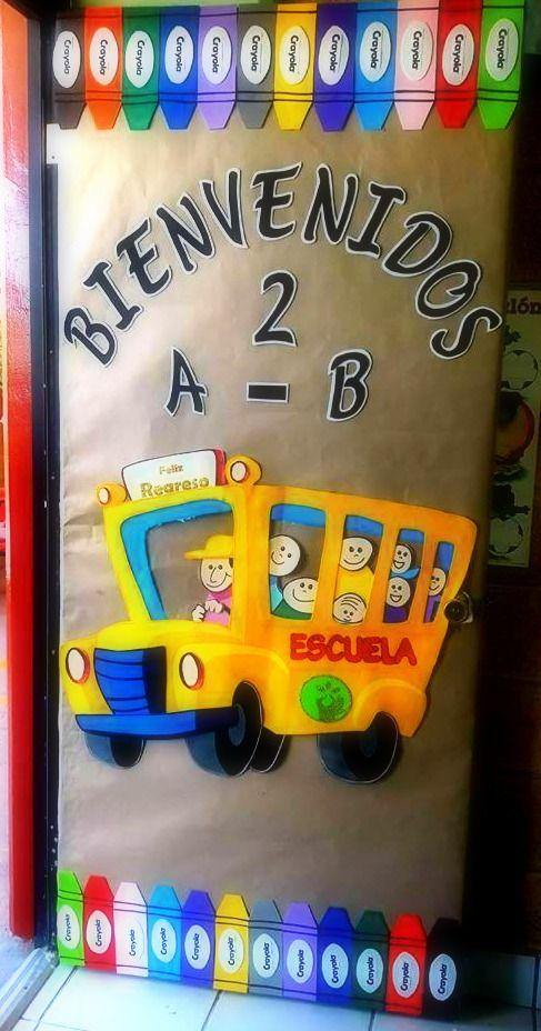 Decoraci n para el aula o sal n de clases preescolar for Puertas decoradas para regreso a clases