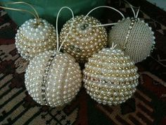 esferas navideñas hechas a mano