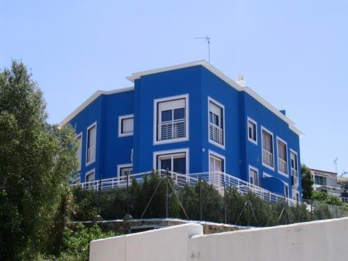 Exteriores de casas azul