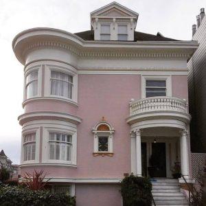 Fachadas color rosa palido