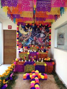 decoracion de dia de muertos para oficinas