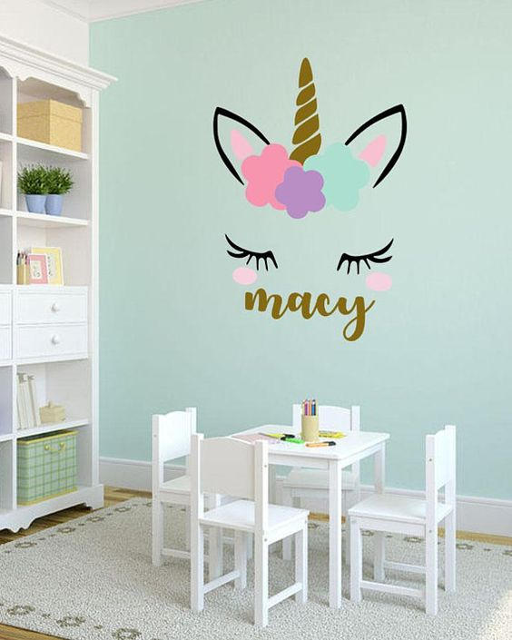 Ideas para decorar las paredes con tema de unicornio - Decorar paredes facil ...