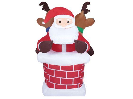 Inflables navideños de santa