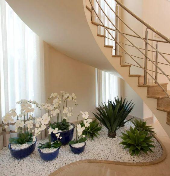 Las mejores ideas de jardines interiores con piedras y for Ideas de jardines interiores