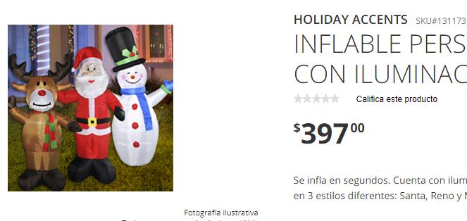 Precios de los inflables navideños