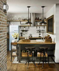 cocina pequeña estilo rustico
